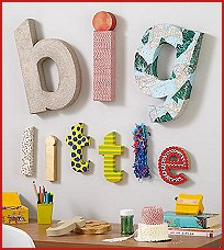 Kids Room Decor Wall Alphabet Letters