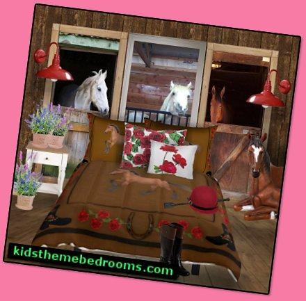 Horse Theme Bedroom Decorating Ideas Girls Horse Themed Bedrooms Horse Wall Murals Pony Theme Bedroom Decorating Ideas Cowgirl Theme Bedroom Horse Theme Bedding Carousel Theme Bedrooms