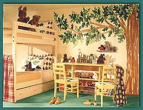Camping Theme and Lodge Cabin Theme Room