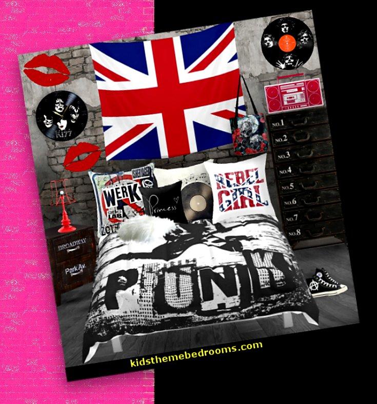 . Punk Rock Bedroom ideas   punk rocker decor   punk pop princess